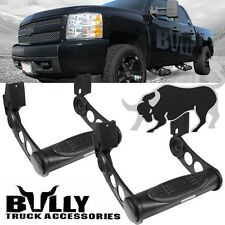 2X Bully Black Adjustable Side Step Bar for Silverado 1500 2500 3500 Tahoe C/K