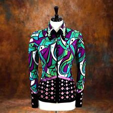 Medium Western Showmanship Pleasure Horsemanship Show Jacket Shirt Rodeo Queen