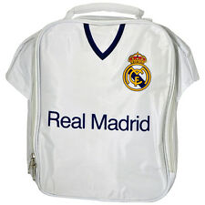 REAL MADRID FC KIT SHIRT SHAPE INSULATED SCHOOL LUNCH BAG BOX NEW GIFT XMAS