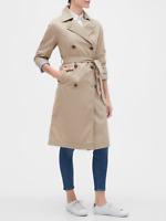 NWT GAP Factory M Khaki Twill Trench Coat