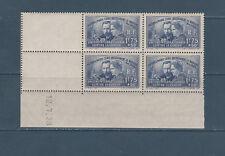 timbre France bloc de 4 coin daté radium Pierre et Marie Curie num: 402 **