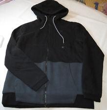 Men's Hurley black mft0007160 sweat shirt jacket hoodie S sm surf skate NEW