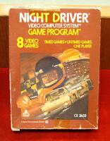 Atari 2600 - Vintage Night Driver Game Cartridge / AS IS UNTESTED - CIB