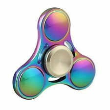 Rainbow Brass Tri-Spinner EDC Fidget Spinner Focus Toy Fingertip Gyro USA Ship