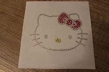 1 Hello Kitty Hotfix Bügelbild  STRASS-STEINE ZUM AUFBÜGELN ca. 10x7 cm