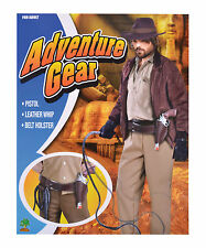 ADVENTURE GEAR HOLSTER & BELT SET PISTOL WHIP FANCY DRESS COSTUME ACCESSORY