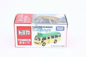 Takara Tomy TOMICA Hong Kong Minibus Toyota COASTER Green Scale 1/89 Diecast car