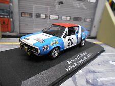 RENAULT 17 Gordini Rallye Monte Carlo 1975 #20 Piot elf cibie Eligor Saga 1:43