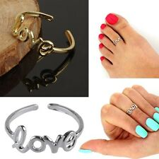 Women Fashion Toe Ring Celebrity Simple Love Open Adjustable Foot Beach Jewelry