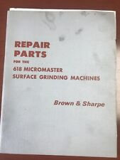Repair Parts Manual For Brown & Sharpe 618 Micromaster