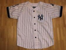 New York Yankees LARGE Pinstripe Throwback Baseball Starter Jersey Shirt N150