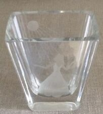 Art Deco Clear Engraved Glass