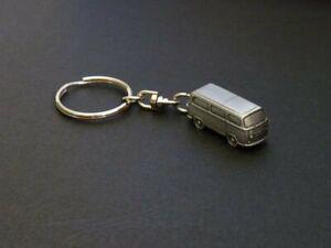Volkswagen Transporter T2, pewter keychain (bus, Kombi)