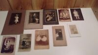 lot of 10 antique cabinet photographs of young children