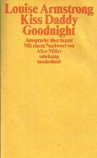 Louise Armstrong: Kiss Daddy Goodnight, Aussprache über Inzest, Suhrkamp 1985