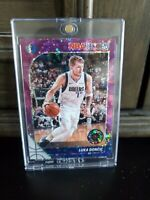 🔥2019-20 PANINI NBA HOOPS PREMIUM STOCK LUKA DONCIC #39 PURPLE DISCO PRIZM SP