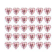 100 IN CADBURY CHOCOLATE HEARTS SILVER HOT PINK HEART-WEDDING VALENTINE'S DAY