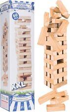 60 Pcs Giant Jenga Wooden Tumbling Tower Game Garden Indoor Outdoor Family Games
