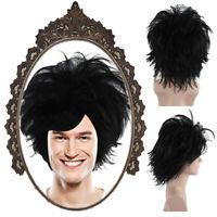 Black Short Wig for Cosplay Edward Scissorhands Halloween Party Costume HM-1100