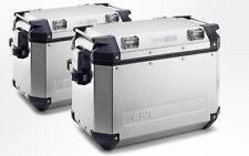 Givi Trekker Silver Outback 48 Liter Side Cases (LEFT & RIGHT) - PAIR