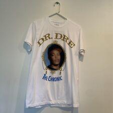 Dr Dre The Chronic Unisex Death Row Records Graphic T-Shirt White Crew Neck L