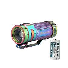 Olight S Mini Ti Titanium Rainbow PVD Cree XM-L2 LED Flashlight Torch + Battery