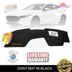 Black Dash Mat Mazda 3 BP Hatch+Sedan G20 Evolve Pure Astina GT 2/2019-20 DM1563