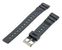 18mm Black Casio Type Sports Resin Watch Strap RG3