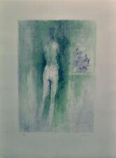 GIUSEPPE AJMONE litografia FIORI AZZURRI  61x46 anno 1972 firmata numerata 39/75