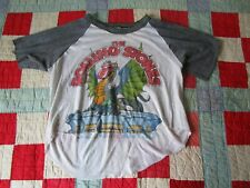 Vintage The Rolling Stones 1981 Tour TShirt colorado Size L SOFT THIN Crop