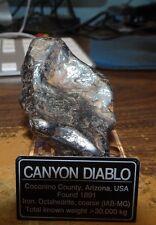 210 gm . CANYON DIABLO IRON METEORITE ; TOP GRADE ; ARIZONA