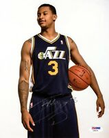 TREY BURKE SIGNED AUTOGRAPHED 8x10 PHOTO UTAH JAZZ PSA/DNA