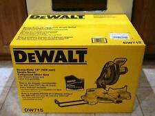 """NEW DEWALT DW715 12"""" ADJUSTABLE COMPOUND MITER SAW 15AMP SALE NEW IN BOX SALE"""