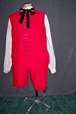 Red 18th Century Waistcoat Plus-sized Patriotic Pirate Outlander F&I Santa Suit