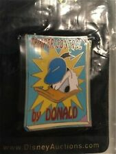 Old Le Disney Auctions Pins Donald Duck Dust Jacket Book Cover Temper Control