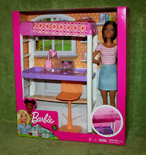 Barbie - Doll & Loft Bed Accessory Play set Toy Bunk Bed Office Chair
