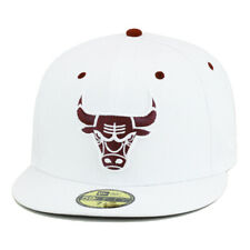 New Era Chicago Bulls Fitted Hat All White/Maroon For jordan 6