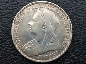 Victoria Crown 1889,Solid Silver Key date low mintage LXII Variety