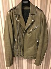BALMAIN 14ss Leather Biker Jacket - Size 50
