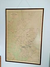 More details for 1960 rch scotland railway clearing house linen map for display station framed br