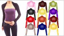 Womens Ladies Plus Size Manica Lunga Velato A Rete Bolerino Coprispalle UK