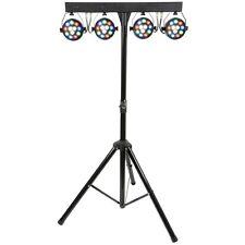 QTX PB-1214 LED PAR Bar DJ Disco Stage Band Portable Lighting System with Remote
