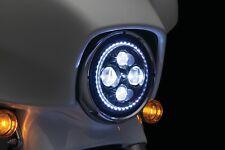 "Kuryakyn Orbit Vision 7"" LED Headlight with White Halo 2460"