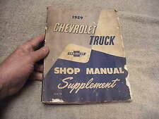Chevy Factory Original 1959 Chevrolet Truck Shop Manuel Supplement