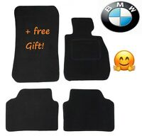 Tailored Black Car Floor Mats Carpets Clip for BMW 3 series E90 E91 2005-2013