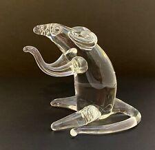 Vintage Art Glass Rat Mouse Handmade Whisker Detail Marked Dce 1996