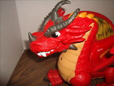 FISHER PRICE IMAGINEXT RED WINGED CASTLE DRAGON W/SOUNDS & MOVABLE WINGS/LEGS