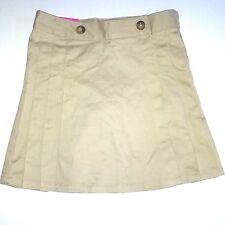 French Toast Girls Skirt Skort Scooter Khaki 12 School Uniform Adjustable Waist