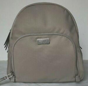 New Kate Spade New York Dawn medium Backpack handbag Nylon Soft Taupe