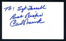 Carl Warwick MLB '64 Cardinals World Series Champion Signed 3x5 Index Card T1485